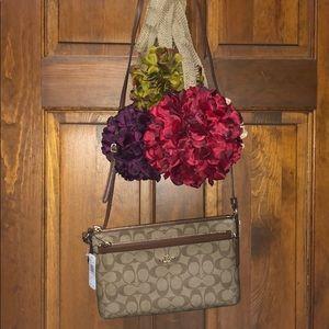 🎉SALE Coach File Bag Crossbody Khaki Saddle